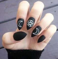 Pointed Acrylic Nail Designs-2