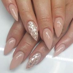 Pointed Acrylic Nail Designs-4