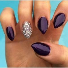 Pointed Acrylic Nail Designs-7
