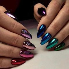 Pointed Acrylic Nail Designs-12