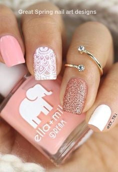 Lace Spring Nail Design