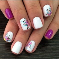 Decals Spring Nail Design