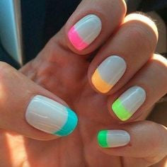 Colorful Spring Nail Design