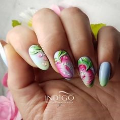 Spring Strawberry Nail Design