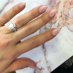 Nude Mountain Peak Nail Idea