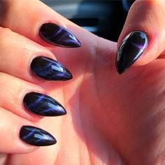 Like Gem Mountain Peak Nail Idea