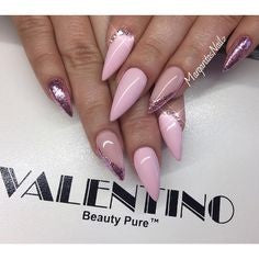Pink Mountain Peak Nail Idea