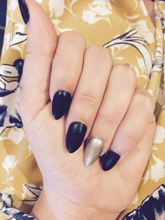 Navy Mountain Peak Nail Idea