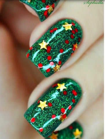 Surprise Christmas Nail Art Idea-9