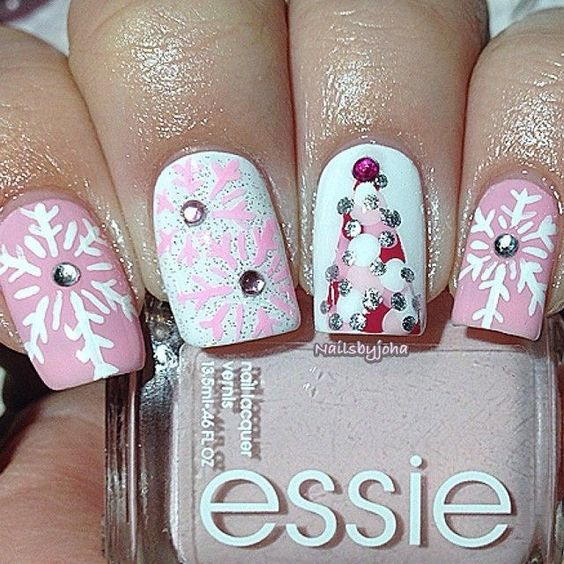 hottest 50 christmas nail ideas for 2017 03