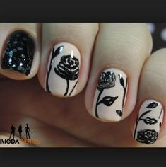 rose nail art design-2