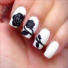 rose nail art design-3