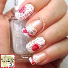 rose nail art design-4