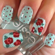 rose nail art design-5