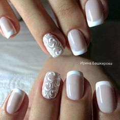 White French Tip Nail Design-8
