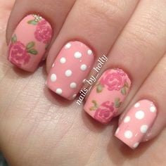 rose nail art design-6