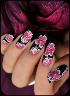 rose nail art design-8