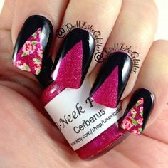 rose nail art design-10