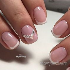 Simple French nail art idea