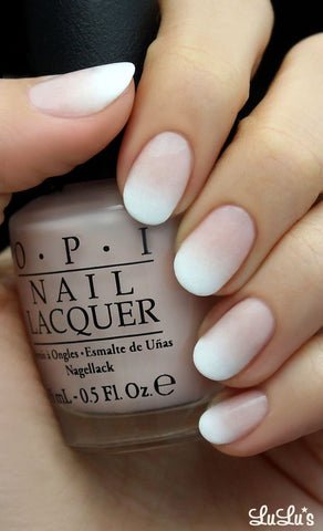Cool ombre French manicure design