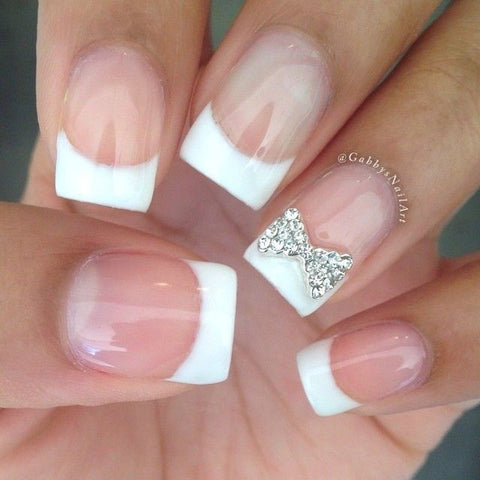 Classic French manicure design