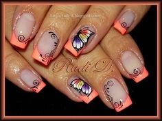 butterfly nail design-2