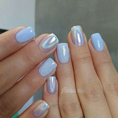 Pretty Nail Design-20 Holographic nails