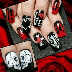 Ghost Nail Art Design-5
