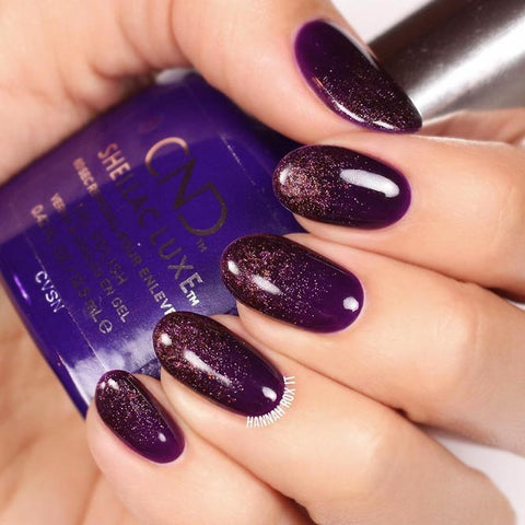Purple And Bronze Glitter Design
