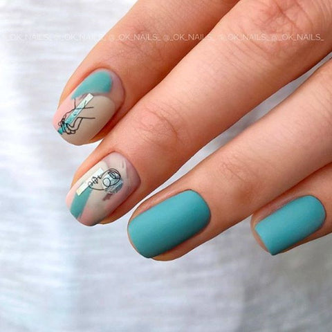 Turquoise Fall Nails