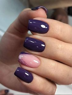 Purple Square Nail Design