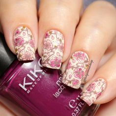 Water Decals Valentine's Nail Art Idea