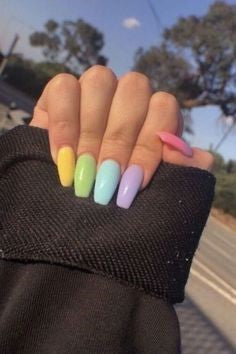 cute colorful nails