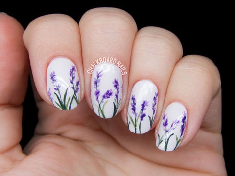 Best Stunning Floral Nail Designs-1