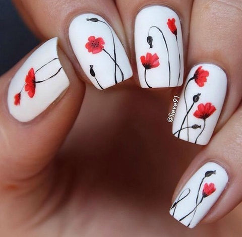 Best Stunning Floral Nail Designs-2