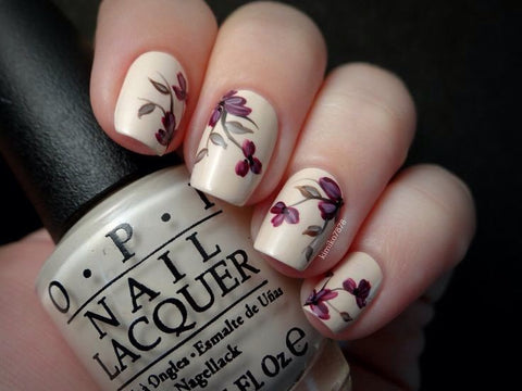 Best Stunning Floral Nail Designs-4
