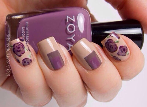 Best Stunning Floral Nail Designs-6