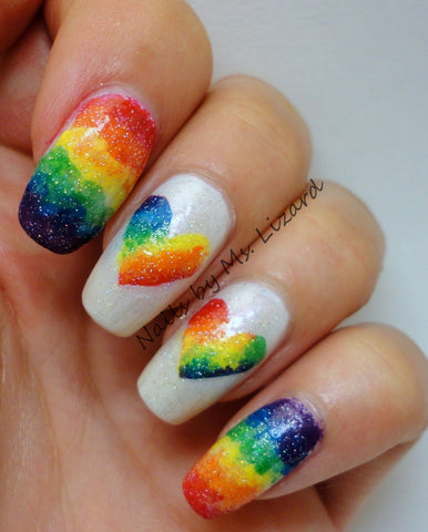 Beauty Bigbang, LGBT, loveislove, pridelove, rainbow, nails