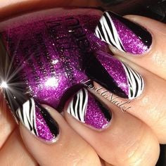 Purple Nail Design-1