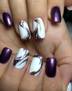 Purple Nail Design-4