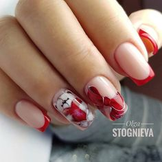 Bow Valentine's Nail Art Idea