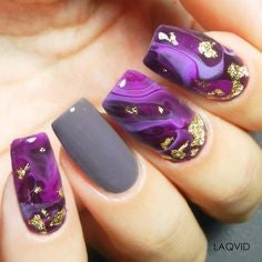 Purple Nail Design-8