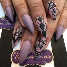 Purple Nail Design-10