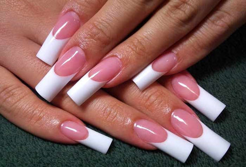 Pink and White French Manicure Designs & Ideas