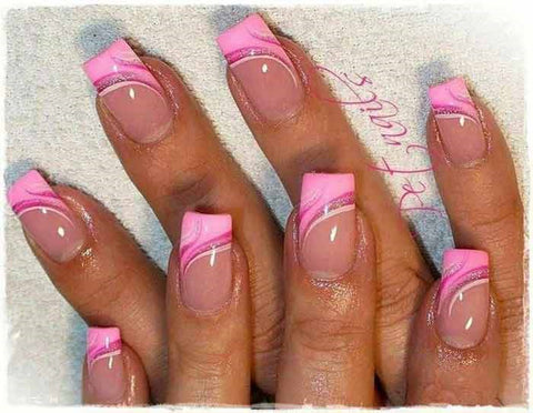 Pink French Tip Nails