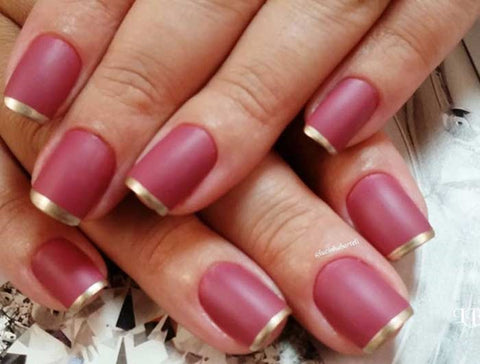 Matte Pink French Tip Nails