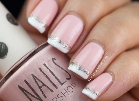 French Manicure with Pink Base