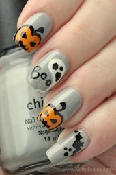 Ghost Nail Art Design-10
