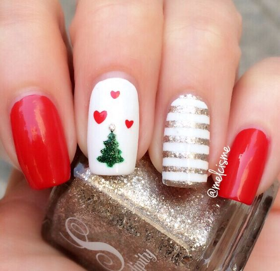 Hottest 50 Christmas Nail Ideas For 2017 Beautybigbang
