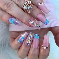 unicorn powder nails-8